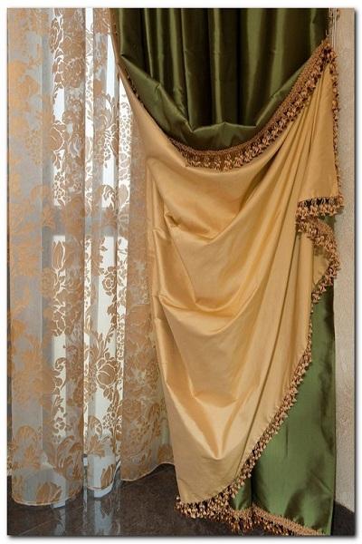 двухсторонние модные шторы